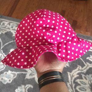 Polka dot sun hat